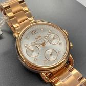 星晴錶業-COACH蔻馳女錶,編號CH00001,30mm玫瑰金錶殼,玫瑰金色錶帶款