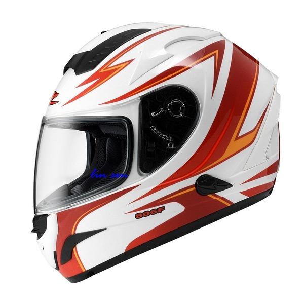ZEUS 瑞獅安全帽,ZS-806F,II57/白紅