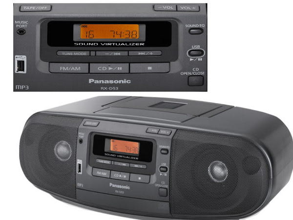 ◤USB音樂播放裝置◢ Panasonic 國際手提CD手提收錄音機(RX-D53)