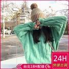 【現貨】梨卡-冬季新款麻花紋保暖寬鬆套頭針織毛衣上衣-糖果色系粗麻花紋多色百搭針織毛衣BR940