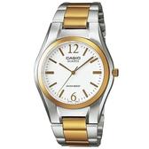 【CASIO】 時尚金銀指針錶-羅馬白面(MTP-1253SG-7A)