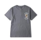 短袖T恤 嘻哈滑板死飛嘻哈個性印花印花圓領純棉短袖t恤日系男青年