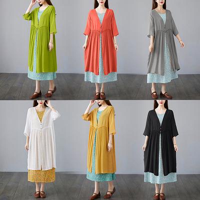 涼感棉麻薄外套~韓版寬松大碼女裝洋氣外穿防曬空調衫女99382F037衣時尚