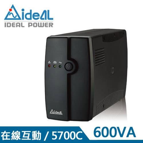 IDEAL愛迪歐 600VA在線互動式UPS不斷電系統 IDEAL-5706C(600VA)