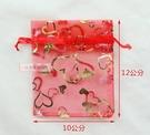 一定要幸福哦~~紅色燙金紗袋(10*12).束口袋.婚禮小物.喜糖.送客禮