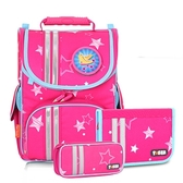 iger Family歐洲插畫家款小貴族超輕量護脊書包-粉紅星星
