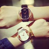 韓版時尚簡約透明鏤空情侶手錶情侶錶 對錶男錶女錶中性錶潮流[W006]