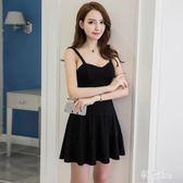 夜場洋裝 女裝性感新款韓版時尚鏤空裙修身收腰顯瘦a字連身裙 js22992『科炫3C』
