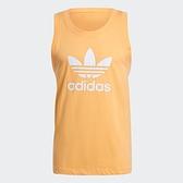 Adidas TREFOIL 男裝 背心 訓練 健身 三葉草 純棉 橘【運動世界】GN3490