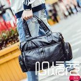 正韓男士手提包大容量休閒橫款公文包男包包潮一次元