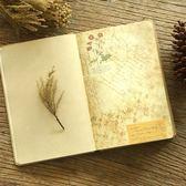 復古筆記本子日記本創意歐式彩頁插畫記事本手繪學生文藝厚手賬本 挪威森林