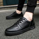 鞋子 夏季防滑板鞋黑色男鞋子酒店廚師上班耐磨防水休閒皮鞋廚房工作鞋