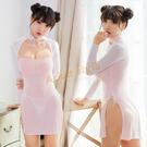 性感睡衣 角色服 動漫系春麗古典旗袍(白粉)【耶誕慶典】