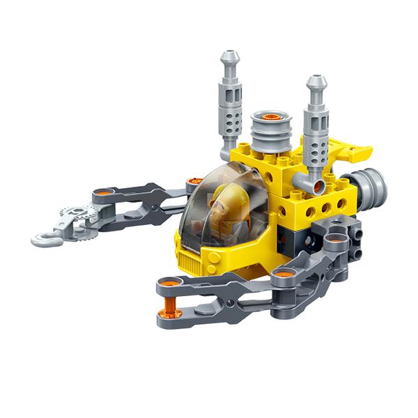 大顆粒系列 9713 轉轉樂-探險艇 可以轉的積木 內附螺絲起子(大積木)【BanBao邦寶積木楚崴】