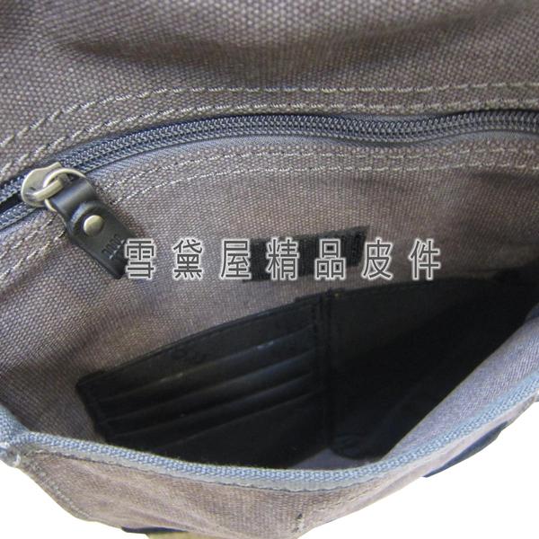 ~雪黛屋~troop 肩背包中容量英國經典帆布100%全棉手工帆布耐磨損加強防水功能底部加大容量STRP0242