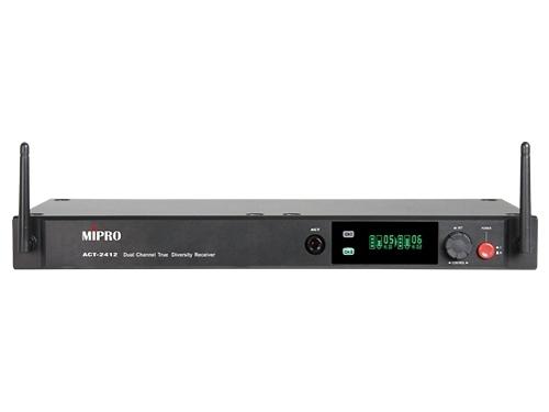 ^聖家^MIPRO 嘉強2.4G 1U雙頻道接收機(具SCAN掃頻功能) ACT-2412【全館刷卡分期+免運費】
