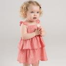 無袖洋裝 Dave Bella 小童 大童 橘紅格紋蛋糕裙無袖洋裝 DBZ7442