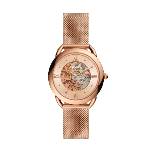 FOSSIL經典米蘭帶鏤空機械腕錶ME3165(34mm)