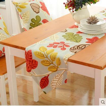 美式鄉村風花朵桌旗餐廳餐桌桌巾茶几桌旗茶几旗床旗床尾巾