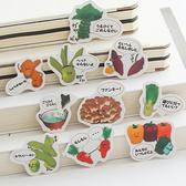 手繪卡通系列貼紙包 裝飾貼紙 文具 學生 辦公用品 創意 美食 【P068】慢思行