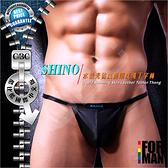 SHINO水誘光仿皮面細皮繩丁字褲 皮革 BDSM 同志 情趣 LH0060