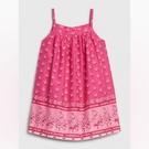 Gap女嬰活力花卉印花吊帶洋裝(含尿布套)580545-櫻紅色