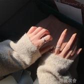 戒指女日韓時尚個性潮人樹葉不規則光面百搭設計感食指環j216  潮流館