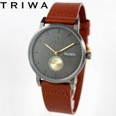 [萬年鐘錶】TRIWA 北歐瑞典設計FALKEN系列 WALTER真皮錶  鐵灰x灰黑  38mm FAST102-CL010213