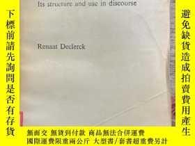 二手書博民逛書店Tense罕見in English: Its Structure