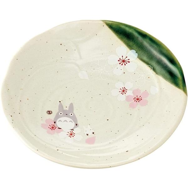 小禮堂 龍貓 日本製 陶瓷圓盤 (美濃燒) 4973307-54422