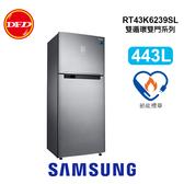 Samsung 三星 冰箱 RT43 雙循環雙門系列 冰箱 443L 時尚銀 RT43K6239SL/TW 免費裝運