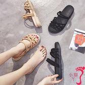 兩穿網紅羅馬鞋女學生時尚新款夏女羅馬風平底韓版百搭涼鞋女
