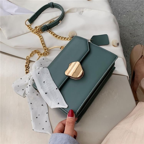 高級感包包女包新款2020韓版時尚氣質手提百搭鏈條單肩斜挎小方包 pinkq 時尚女裝