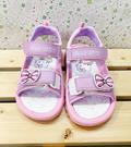 【震撼精品百貨】Hello Kitty 凱蒂貓~台灣製Hello kitty正版兒童涼鞋-紫蝴蝶結(13~18號)#19216