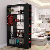 簡約現代客廳玄關柜隔斷柜門廳紅酒柜屏風間廳柜雙面裝飾柜展示柜
