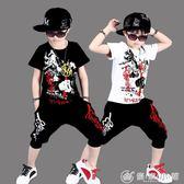 中大童男童夏季韓版潮衣服兒童夏裝 優家小鋪