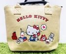 【震撼精品百貨】Hello Kitty 凱蒂貓~日本三麗鷗 kitty 編織手提袋/側背包-刺繡#29618