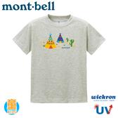 【Mont-Bell 日本 童 Wickron T恤 Tepee 短袖排T《炭灰》】1114361/t恤/抗UV