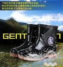 千島曼20厘米男士迷彩短筒雨靴厚底耐磨牛筋底雨鞋廚房膠鞋 奇思妙想屋