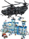 男孩拼裝小顆粒警察積木高軍事航母戰車坦克智玩具zg