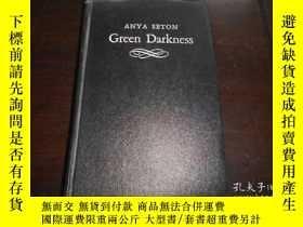 二手書博民逛書店ANYA罕見SETON GREEN DARKNESS(1972年