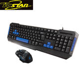 T.C.STAR 連鈺 KIT9904BU 藍色有線鍵盤滑鼠組 (TCK675+TCN192)