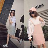 春夏薄彈力棉多口袋吊帶裙洋裝 (粉紅 粉綠)二色售 (M7SS)11740008