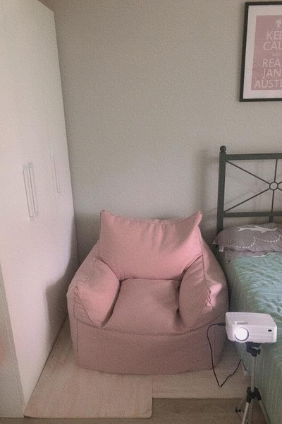 懶人沙發豆袋榻榻米單人臥室房間躺椅小型可愛少女心出租房網紅款-享家