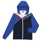 KAPPA義大利時尚單層風衣外套(可拆帽)~白 丈青閃耀藍3117ZYWA0K