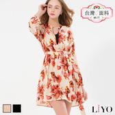 LIYO理優MIT浪漫印花洋裝E636006