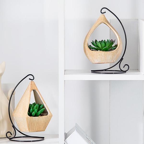 創意北歐仿真多肉組合植物盆栽家居客廳假花綠植裝飾盆景擺件吊籃