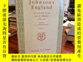 二手書博民逛書店Johnson s罕見England an Account of the Life & Manners of Hi