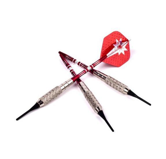 【滿額免運費】【電子飛鏢機專用】紅色之電.電子專業比賽軟式16克飛鏢