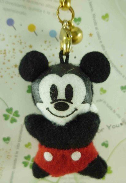 【震撼精品百貨】Micky Mouse_米奇/米妮 ~絨毛鈴鐺吊飾-米奇